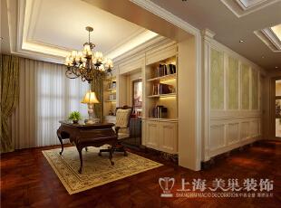 蓝堡湾四室两厅欧式风格装修案例-书房效果图,230平,40万,欧式,复式,