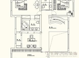 蓝堡湾四室两厅复式装修二楼户型图及平面布局方案,230平,40万,欧式,复式,