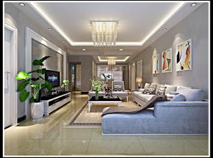 简约风格 其中带一点现代的味道 显得比较有活力 客户最终选定方案,129平,11万,简约,三居,客厅,黄色,