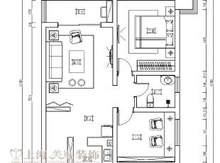 中豪汇景湾90平两室两厅装修户型方案平面图,90平,5万,现代,两居,