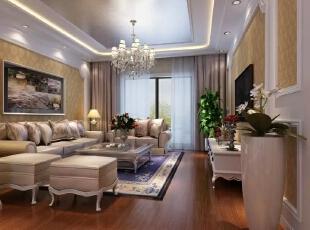 从欧式贵族时期传承下来家居风格与款式,且受到美国中产阶的润色,既带有庄重又兼蓄畅快,古典优雅且充满了历史感。这种带有家族传承的old monet 勋堡或高级公寓的Penthouse将为主人绵延世代的荣耀。,简欧,飞机场家属院,客厅,白色,