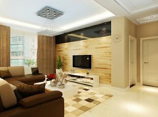 乳咖色的居室,在温和的灯光下,为居室营造出很柔雅的氛围,局部的吊顶让居室产生了层次感,简单的白色隔断增加了居室的区域感,同时还可以防止一些装饰品,增加些许美感。,140平,4万,简约,三居,
