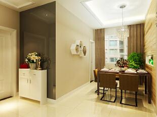 餐厅的设计让居室产生了层次感,140平,4万,简约,三居,