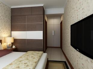 金峰帝景125平--三居室--新中式装修设计效果图-太原东唐装饰设计有限公司--主卧装修效果图,三居,卧室,买家模式,东唐装饰,卧室装修设计,