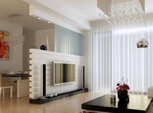 单独的背景墙 凑个数,120平,10万,现代,两居,客厅,