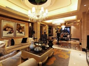 曲池东岸别墅客厅视野,220平,45万,欧式,别墅,