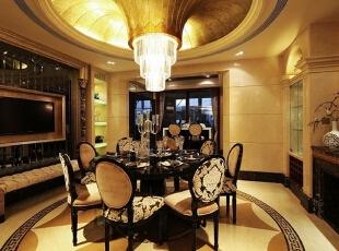 曲池东岸别墅餐厅视野,220平,45万,欧式,别墅,卧室,客厅,餐厅,黄色,