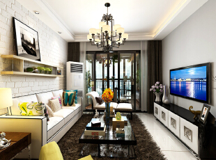 温馨的客厅,精致的家居配饰,晚饭后一家人聚一起聊聊家常,追个剧的~~~,100平,10万,简约,三居,黑白,白色,