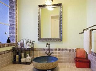 江屿城卫浴视野,76平,13万,田园,两居,卫生间,粉色,