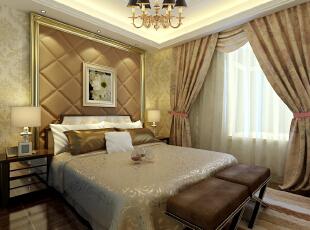 保利拉菲公馆109平方新古典卧室装修效果图,109平,8万,新古典,三居,卧室,春色,