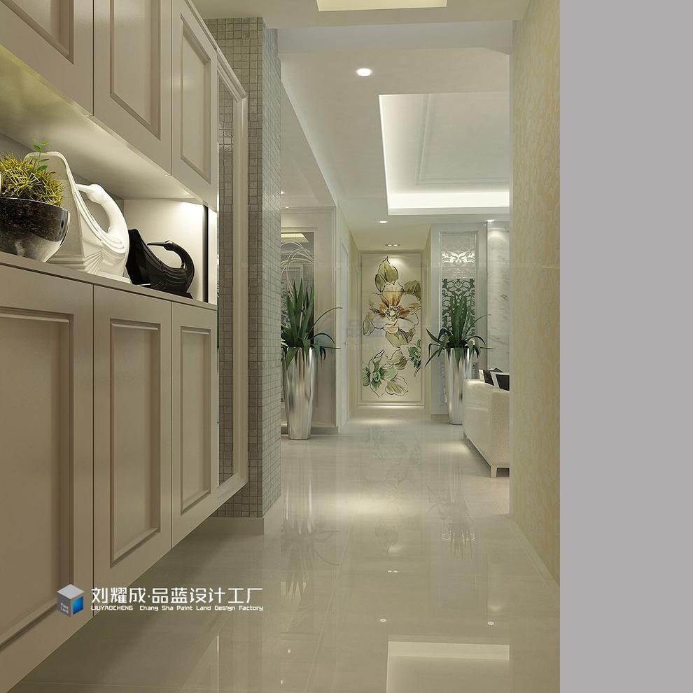 5万 主要材料:墙纸,白色油漆,银镜,大理石,欧式线条 空间格局:四房