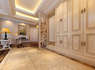 联盟新城三厅三卫330平方五室简欧风格——走廊效果图,330平,60万,欧式,复式,