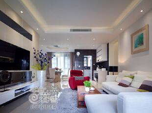 ,130平,50万,现代,四居,客厅,白色,