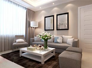 ,90平,6万,现代,两居,客厅,白色,简约,宜家,