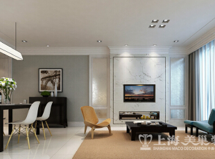 中豪汇景湾简欧装修120平3室2厅样板间效果图——电视背景墙效果图,120平,12万,欧式,三居,