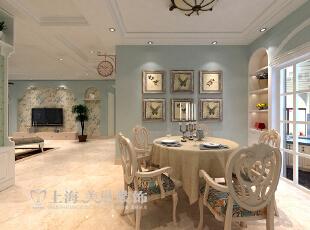 升龙又一城142平3室2厅装修方案——餐厅装修效果图,142平,5万,美式,三居,餐厅,