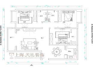 升龙又一城142平三室两厅装修户型图,142平,5万,美式,三居,