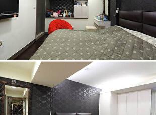 以黑白二色打造美感与收纳兼具的主卧空间,完整满足男女屋主需求,124平,11万,混搭,三居,卧室,