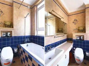 【卫生间】  瓷砖的挑选花了好长的时间,最后的结果真的很令人满意。,262平,32万,美式,四居,卫生间,