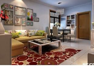 它没有过多繁复的设计,以简洁的造型、纯洁的质地、精细的工艺为其特征,为现代人展现了更温馨舒适的居住环境。,116平,7万,现代,三居,