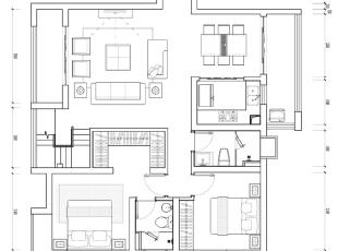设计方案:1.原有客厅空间太小。将沙发后的墙体拆除,客厅空间得到扩展。2.原有主人房空间比较紧凑,衣柜无处安置,利用空中花园设计了一个大衣帽间,增加了很多储物空间。3.楼梯设置在阳台处,没用占用到客厅的空间,二层阁楼也能得到最好的空间利用率。,109平,18万,美式,复式,简约,客厅,餐厅,卧室,厨房,阳台,绿色,白色,小资,