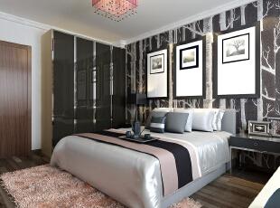 ,105平,5万,现代,两居,卧室,黑白,