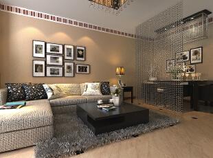 ,105平,5万,现代,两居,客厅,黄色,