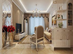 ,138平,6万,欧式,三居,客厅,白色,