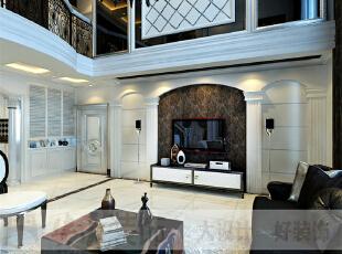 简欧风格就是简化了的欧式装修风格。也是目前住宅别墅、大户型装修最流行的风格。简欧风格更多的表现为实用性和多元化。简欧家具包括床、电视柜、书柜、衣柜、橱柜等等都与众不同,营造出日常居家不同的感觉。,206平,10万,宜家,复式,客厅,黑白,