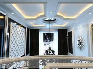 简欧风格就是简化了的欧式装修风格。也是目前住宅别墅装修最流行的风格。简欧风格更多的表现为实用性和多元化。简欧家具包括床、电视柜、书柜、衣柜、橱柜等等都与众不同,营造出日常居家不同的感觉。,206平,10万,宜家,复式,玄关,黑白,