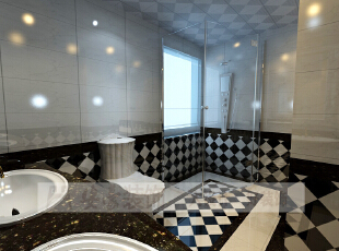 简约欧式风格沿袭古典欧式风格的主元素,融入了现代的生活元素。欧式的居室有的不只是豪华大气,更多的是惬意和浪漫。通过完美的典线,精益求精的细节处理,带给家人数不尽的舒服触感。,206平,10万,宜家,复式,卫生间,黑白,