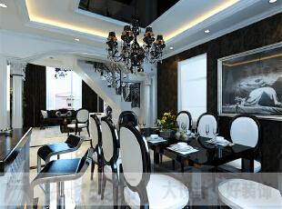 简约欧式风格沿袭古典欧式风格的主元素,融入了现代的生活元素。欧式的居室有的不只是豪华大气,更多的是惬意和浪漫。通过完美的典线,精益求精的细节处理,带给家人数不尽的舒服触感。,206平,10万,宜家,复式,餐厅,黑白,
