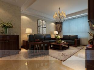 客厅沙发以真皮和实木为材质,从质感上来看两者相辅相成,从色彩上来看两者差异中又有对比,,在简洁的沙发背景的衬托下,使得视觉的中心点集中在沙发上,更加凸显主题。身在此地,顿时将身份品味提高了一截。,132平,6万,美式,三居,客厅,红色,黑白,
