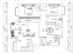 郑州鑫苑名家230平5室2厅现代简约装修风格平面布局图,230平,40万,现代,复式,
