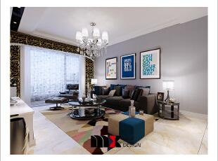 ,126平,13万,现代,两居,客厅,