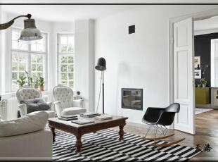 ,420平,80万,欧式,别墅,客厅,白色,黑白,绿色,