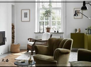 ,420平,80万,欧式,别墅,客厅,白色,原木色,绿色,
