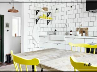 ,420平,80万,欧式,别墅,餐厅,白色,黄色,黑白,
