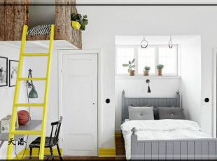 ,420平,80万,欧式,别墅,卧室,白色,黄色,原木色,