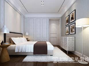 中豪汇景湾简欧装修120平三室两厅效果图样板间——卧室布局效果图,120平,欧式,中豪汇景湾卧室,卧室装修效果图,卧室,白色,