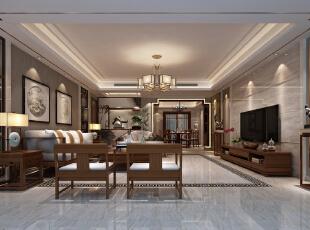 ,200平,50万,四居,客厅,中式,原木色,