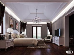 ,300平,3万,简约,别墅,卧室,黑白,