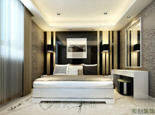 ,55平,5万,现代,一居,黑白,卧室,小资,