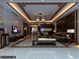 ,200平,40万,中式,四居,客厅,原木色,白色,