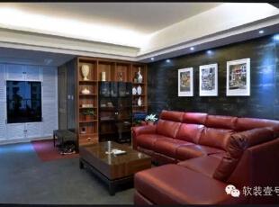 ,130平,30万,现代,三居,客厅,红色,黑白,