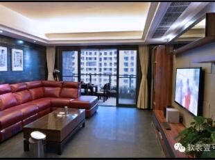 ,130平,30万,现代,三居,客厅,红色,