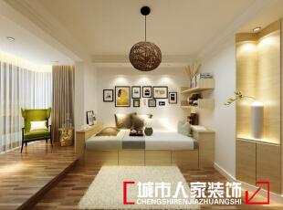 ,90平,7万,现代,两居,卧室,黄色,