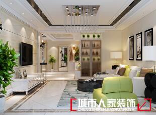,90平,7万,现代,两居,客厅,黑白,