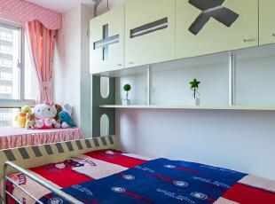 ,90平,22万,现代,两居,儿童房,白色,粉色,