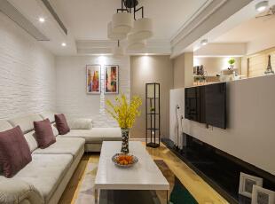 ,90平,22万,现代,两居,客厅,白色,